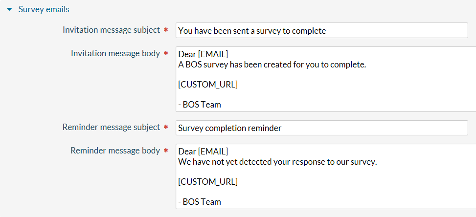 Survey Email Template. getfeedback distributing salesforce aware ...